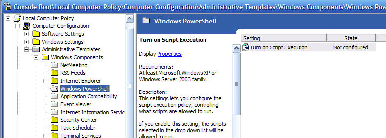 PowerShell Group Policy configuration